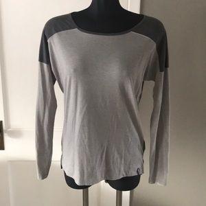 Patagonia Grey Color Block Long Sleeved Shirt